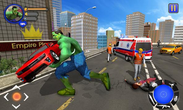 Incredible Monster : Superhero City Survival Games poster