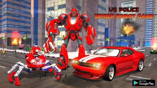 Spider Robot Car Game – Robot Transforming Games screenshot 5