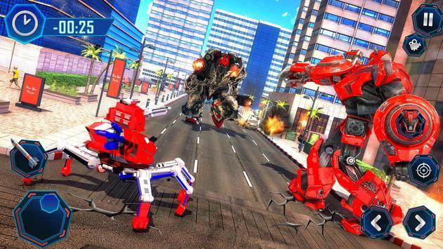 Spider Robot Car Game – Robot Transforming Games screenshot 13
