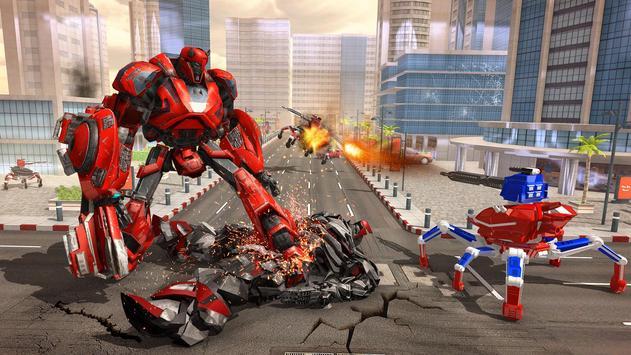 Spider Robot Car Game – Robot Transforming Games screenshot 11