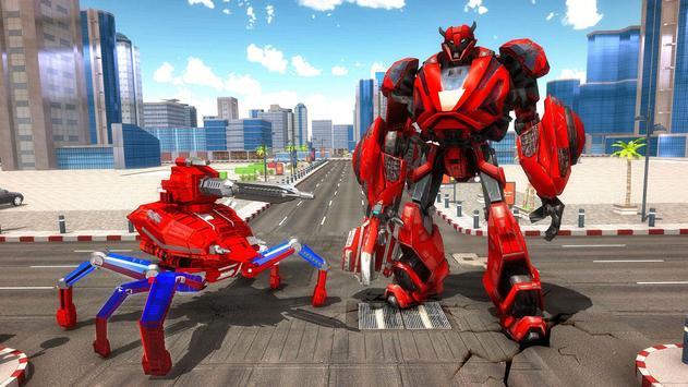 Spider Robot Car Game – Robot Transforming Games screenshot 14