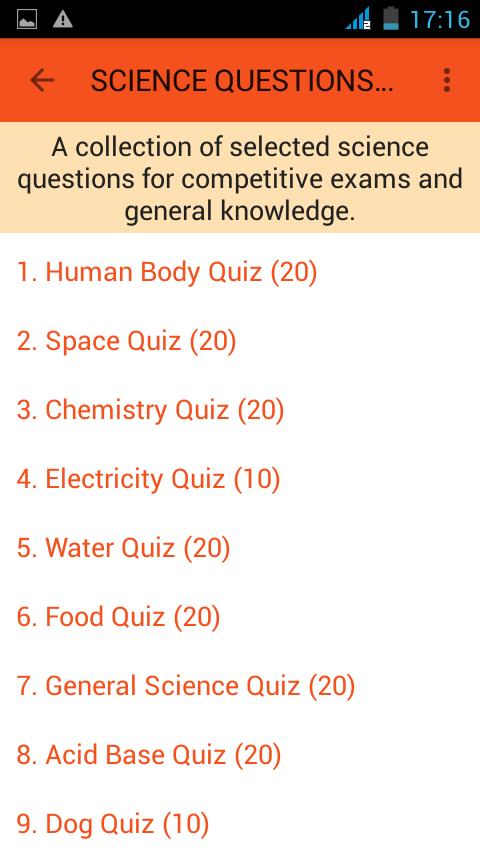 Science Questions Answers For Android APK Download