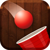 Red Ball Pong Shooter - Glass and Bottle Shooter icon