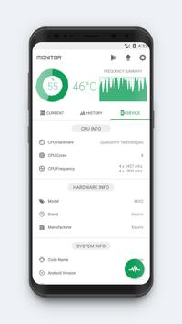 CPU Monitor - temperature, usage, performance screenshot 2