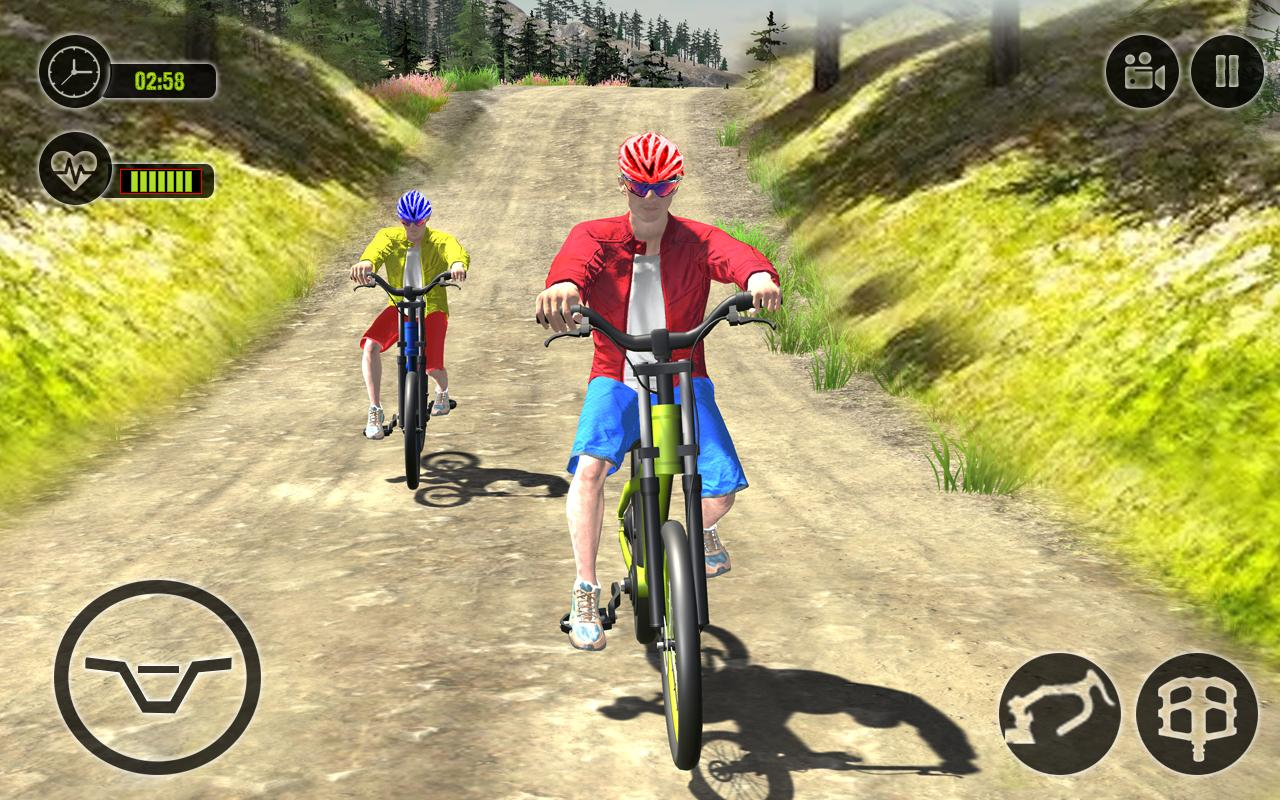Offroad BMX Rider: Mountain Bike Game screenshot 2
