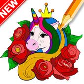 Livre De Coloriage Licorne Avec Dore Pour Android