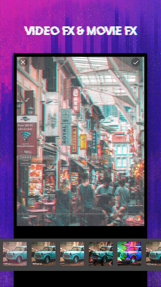 3D Glitch Photo Effects - Camera VHS Camcorder for Android