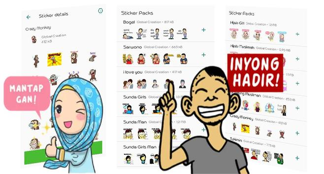 Stiker Muslim Jawa Sunda For WAstickerApps poster