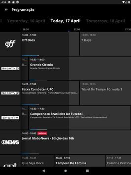 Canais Globo (Globosat Play) imagem de tela 10