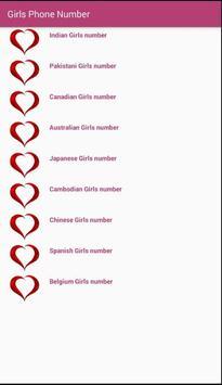 Girls Phone Number App poster