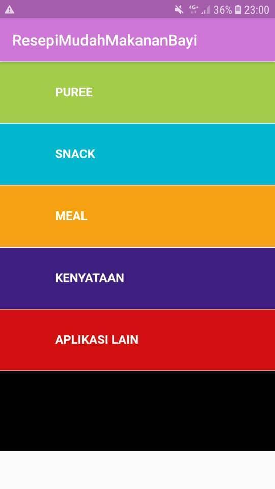 Resepi Mudah Makanan Bayi pour Android - Téléchargez l'APK