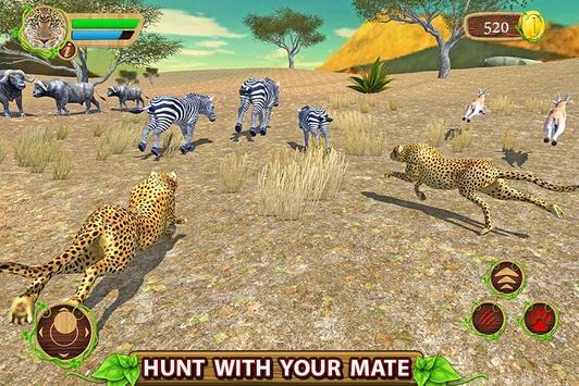 Furious Cheetah Family Simulator Affiche