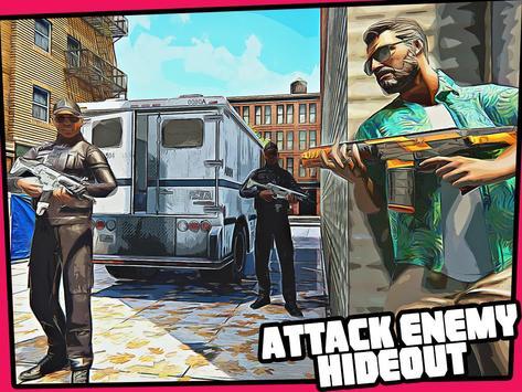 Real Miami Gangster Grand City: Crime Simulator 3D スクリーンショット 12