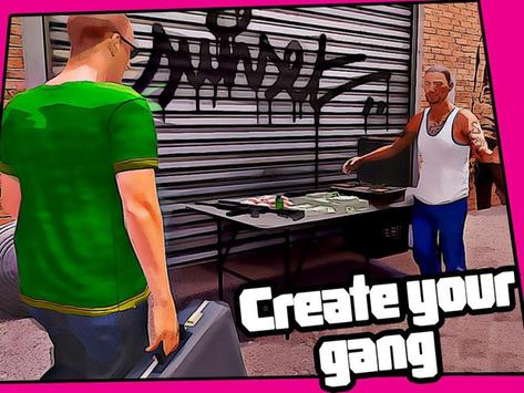 Real Miami Gangster Grand City: Crime Simulator 3D スクリーンショット 13