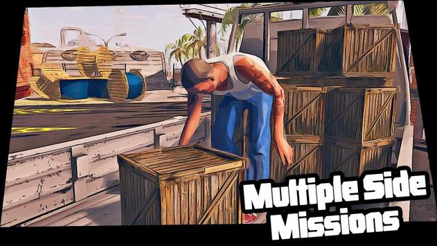 Real Miami Gangster Grand City: Crime Simulator 3D スクリーンショット 7