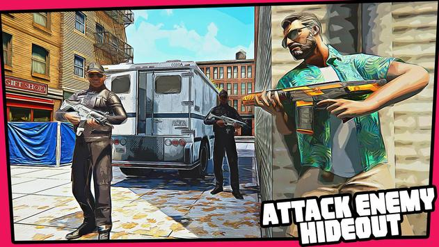Real Miami Gangster Grand City: Crime Simulator 3D スクリーンショット 4