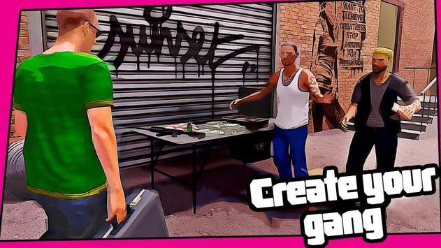 Real Miami Gangster Grand City: Crime Simulator 3D スクリーンショット 5