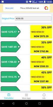 Simple Discount Calculator screenshot 1