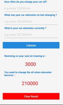 Oil Change Reminder screenshot 1