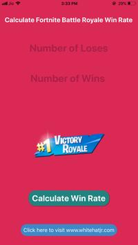 Fortnite Win Rate Calculator 海報