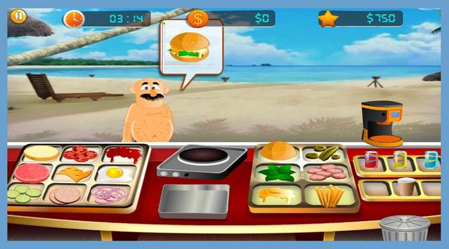GMD Beach Burger - Chef's Food Cooking Game screenshot 3