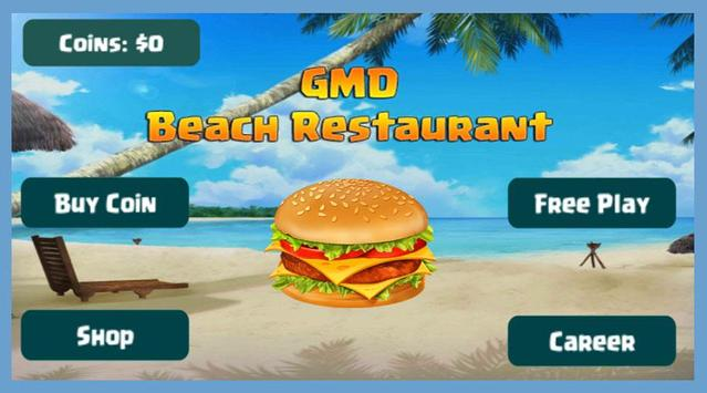 GMD Beach Burger - Chef's Food Cooking Game poster
