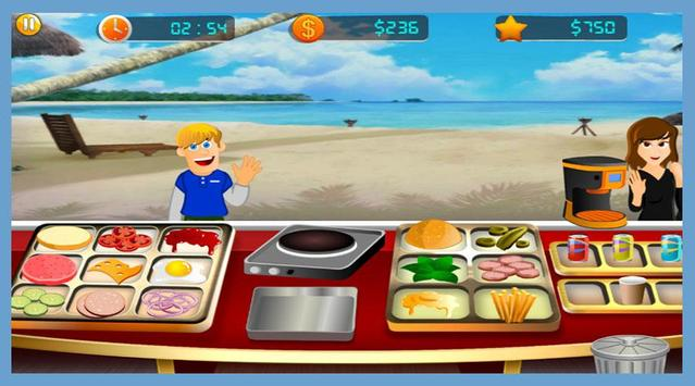 GMD Beach Burger - Chef's Food Cooking Game screenshot 4