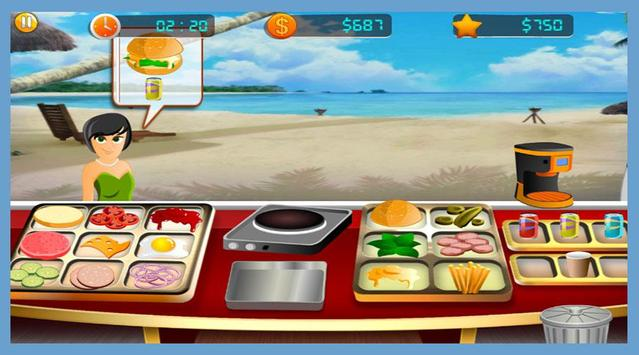 GMD Beach Burger - Chef's Food Cooking Game screenshot 5