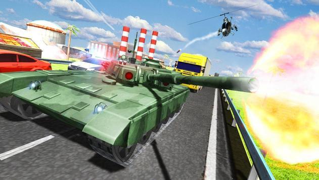City Tank Traffic Driving poster