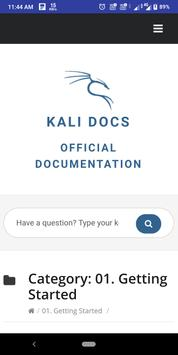 Kali Linux Docs screenshot 1