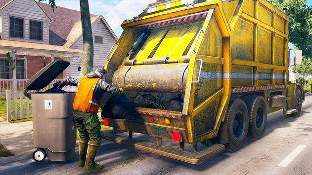 City Trash Truck Simulator: Dump Truck Games screenshot 1