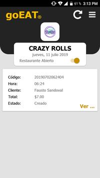 goEAT Restaurante screenshot 1
