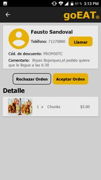 goEAT Restaurante screenshot 2