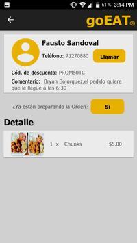 goEAT Restaurante screenshot 4