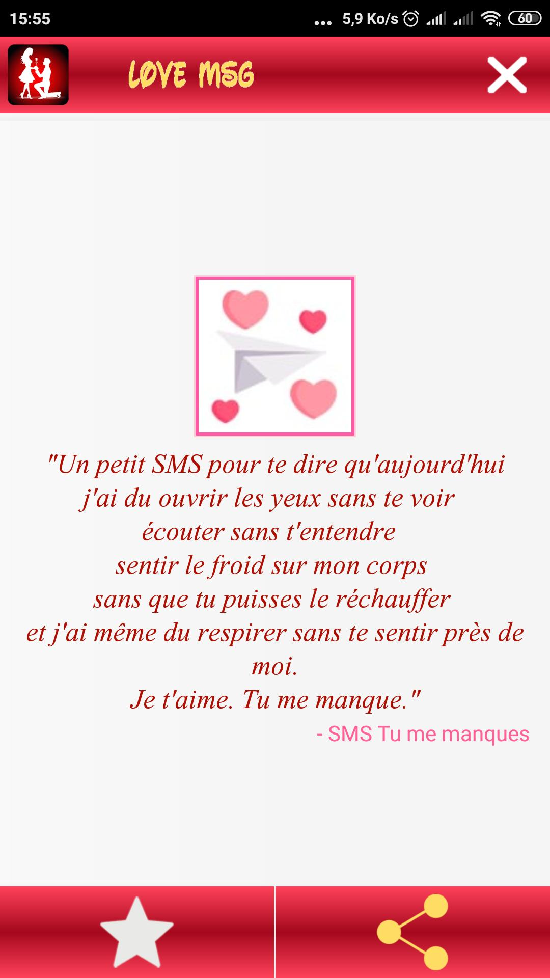 Romantique Messages Damour Sms Damour For Android Apk