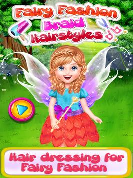 Fairy Fashion Braided Hairstyles games for girls poster