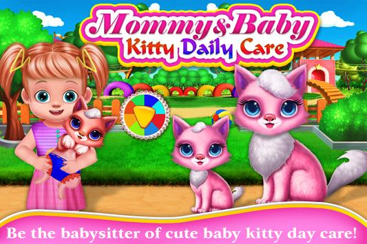 Mommy & Baby Kitty Daily Care-Motherhood Nursery poster