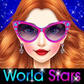 World Stars Fashion Hairstyles & Dress Up icon