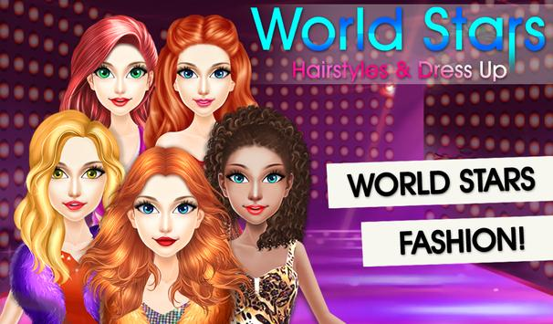 World Stars Fashion Hairstyles & Dress Up screenshot 2