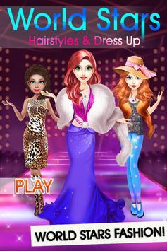 World Stars Fashion Hairstyles & Dress Up screenshot 7