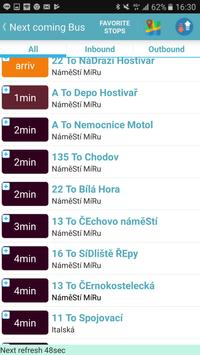 Praha bus/tram/train timetable screenshot 4