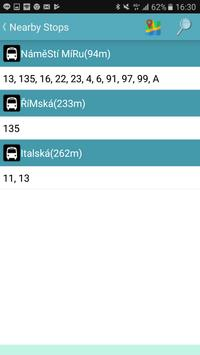 Praha bus/tram/train timetable screenshot 5