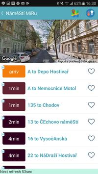 Praha bus/tram/train timetable screenshot 6