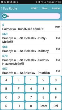 Praha bus/tram/train timetable screenshot 1