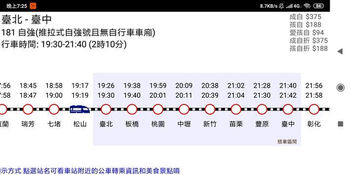 台鐵高鐵火車時刻表 تصوير الشاشة 7