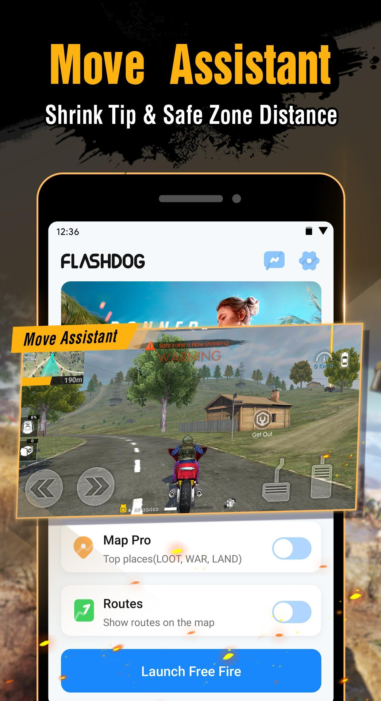 FlashDog - Booster & Pro Sensitivity for Free Fire for Android - APK