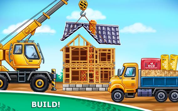 Truck games for kids - build a house, car wash3