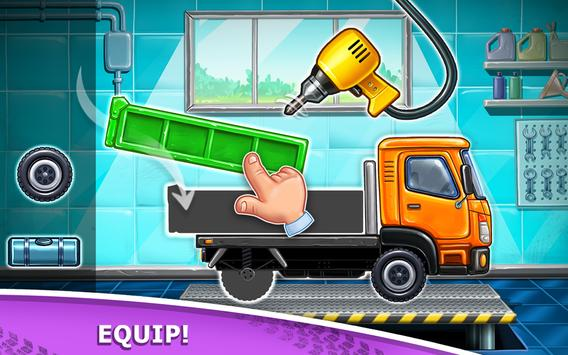 Truck games for kids - build a house, car wash0