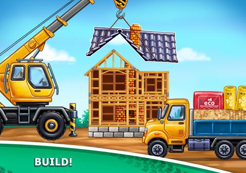 Truck games for kids - build a house, car wash10
