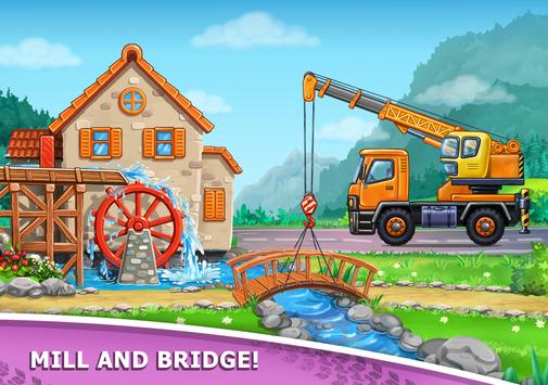 Truck games for kids - build a house, car wash12